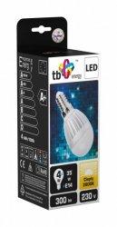 TB Energy Żarówka LED E14 230V 4W kulka b.ciepły