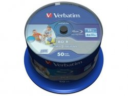 Verbatim BD-R 6x 25GB 50P CB DataLife Printable 43812