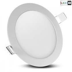 Maclean Panel LED sufitowy podtynkowy slim 12W Natural white 4000-4500K Led4U LD153N Fi170*H20mm