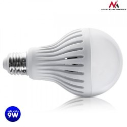 Maclean Żarówka LED E27 9W 230V Energy MCE177 CW zimy biały mikrofalowy czujnik ruchu i zmierzchu