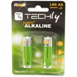 Techly Baterie alkaliczne LR06 AA 2szt, (IBT-LR06T2B)