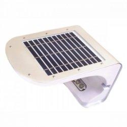 SUNEN PowerNeed Kinkiet solarny z czujnikiem ruchu LED x3, SMD LED x28, panel 3W srebrny