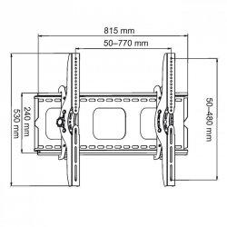UCHWYT DO MONITORA PLASMA/LCD czarny 32-60'' do 80KG AR-08 ART