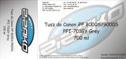 Tusz zamiennik Yvesso PFI-701GY Grey 700ml do Canon iPF8000S iPF9000S CF0909B001AA