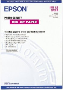 Papier Epson A3 + 720 dpi Photo Quality Ink Jet 100 ark. 104g/m2 S041069
