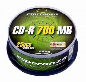Esperanza CD-R Silver 700MB x56 - Cake Box 25