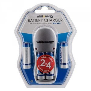 Whitenergy Ładowarka do Akumulatorów|4xAA/AAA|230V|4xAA 2800mAh Ni-Mh