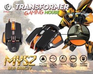 Rebeltec Gamingowa mysz optyczna USB TRANSFOMER