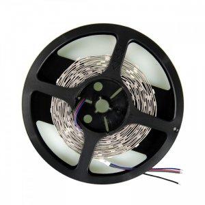 Whitenergy Taśma LED|5m|30szt/m|SMD5050|7.2W/m|12V|wew.|10mm|RGB|bez konektora