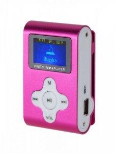 QUER Odtwarzacz MP3 / Dyktafon / Radio FM  z LCD różowy