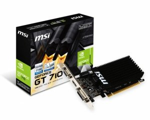MSI Karta graficzna GeForce GT 710 1GB DDR3 64BIT DVI/VGA/HDMI