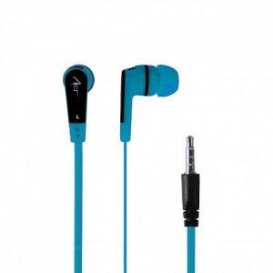 ART Słuchawki douszne z mikrofonem S2E niebieskie smartphone/Mp3/tablet