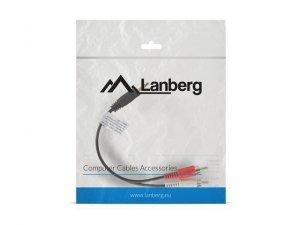 LANBERG Kabel Minijack - 2x Chinch M/M 20cm