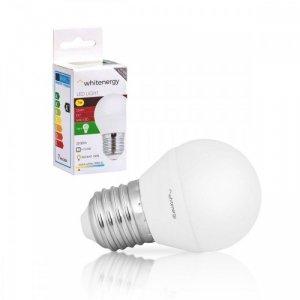 Whitenergy Żarówka LED G45 E27 7W 556lm ciepła biała mleczna