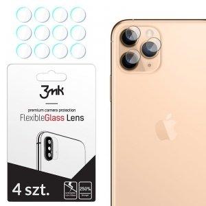 3MK Szkło hybrydowe FlexibleGlass Lens iPhone 11 Pro na obiektyw aparatu 4 szt.