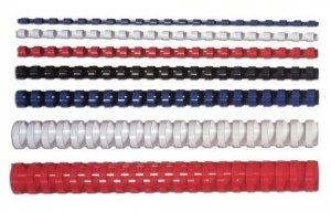 Fellowes Grzbiet plastikowy okrągły, 8mm czerwony, 100 sztuk