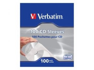 Verbatim Koperta papierowa CD z okienkiem 100 sztuk