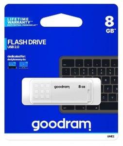 GOODRAM Pendrive UME2  8GB USB 2.0 Biały