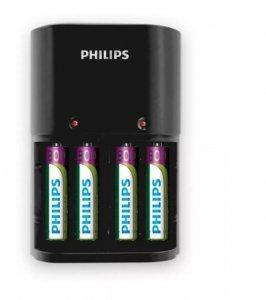 Philips Ładowarka 1/4 x AA/AAA, 170/80 mA, 220/240V, 4 x AAA 800 mAh