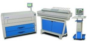 Cyfrowa kopiarka wielkoformatowa KIP 7200CM skaner kolor (4 rolki)