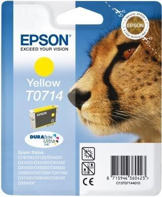 Wkład yellow do Epson D78/92/120/DX4000/4050/5000/5050/6000/6050/7000F/ 7400/8400/9400. T0714