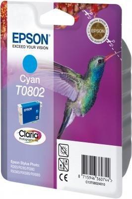Wkład cyan do Epson Stylus Photo R265/360/RX560/585/685; T0802