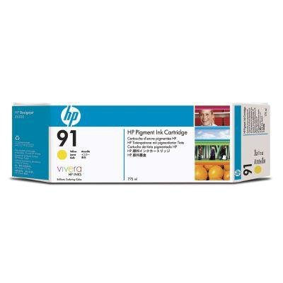 Tusz (Ink) HP 91 yellow (775ml) do DnJ Z6100 - Trzypak [C9469A] C9485A