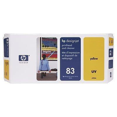 Głowica (Printhead) HP 83 yellow + Gniazdo czyszczące (Printhead cleaner) yellow system UV do DnJ 5000/5000ps/5500/5500ps C4963A
