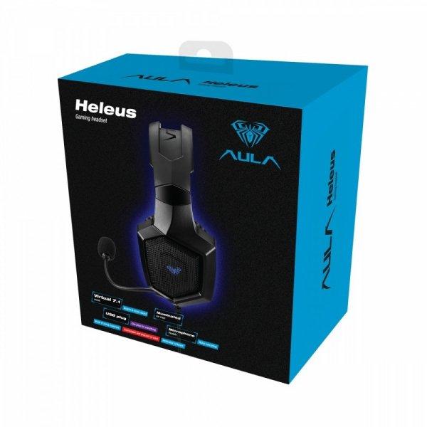 AULA Gaming Słuchawki z mikrofonem dla graczy Heleus USB 7.1  (z podświetleniem)