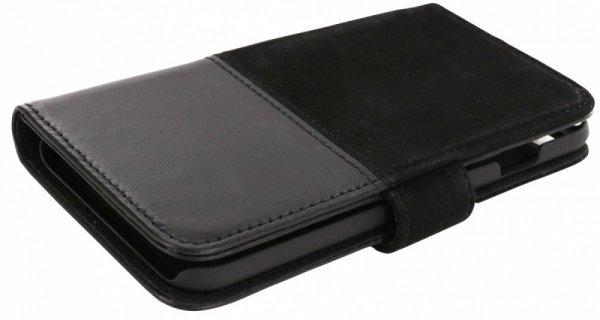 Holdit Selected walletcase Skrea skóra/zamsz czarny iPhone 7 8
