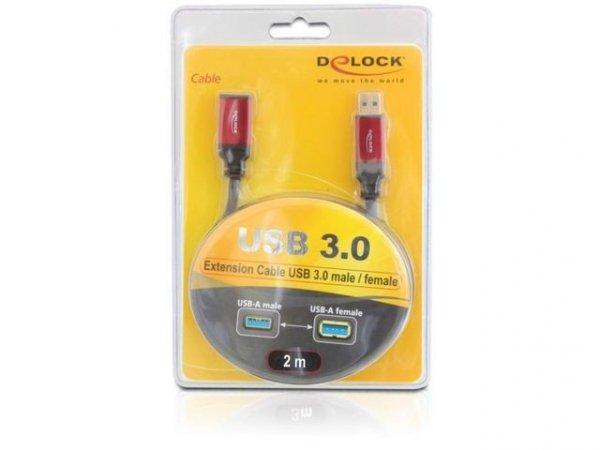 Delock Przedłużacz USB 3.0 AM-AF 2m Premium