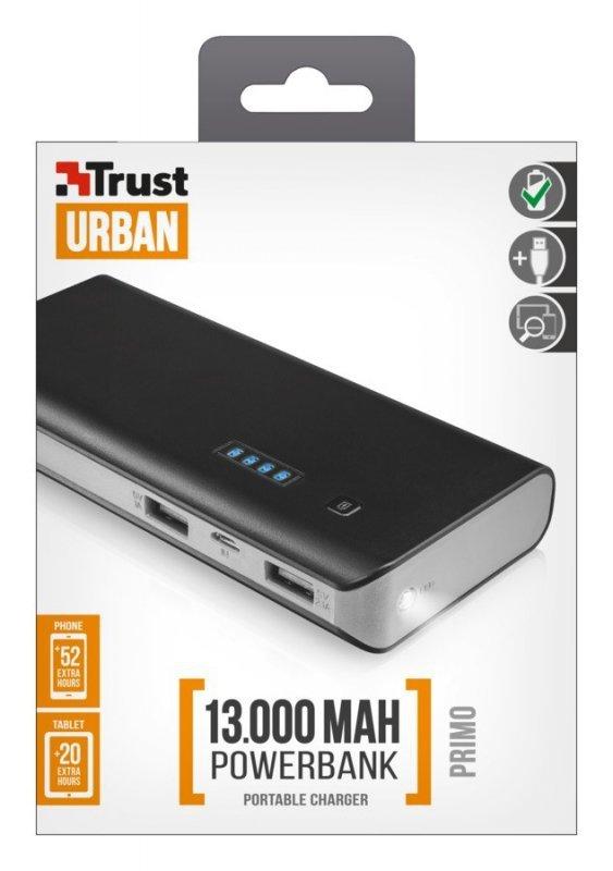 Trust Powerbank Primo  13000 - czarny