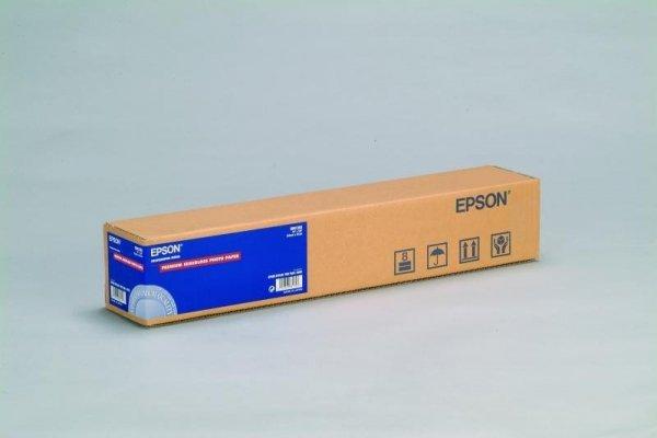 Papier w rolce do plotera Epson Premium Photo Semigloss (pół błyszczący) 610x30,5m 24'' 160g/m2 C13S041393