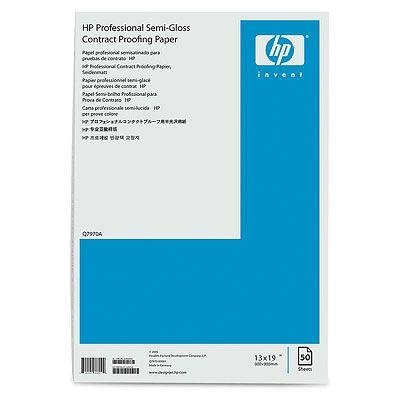 HP Professional Semi-gloss Contract Proofing Paper 235 g/m2 A3+(330 x 483 mm) 50 arkuszy - do ploterów DesignJet 70/90