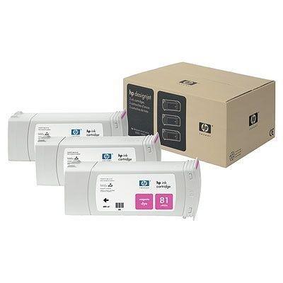 Tusz (Ink) HP 81 magenta (680ml) system Dye do DnJ 5000/5000ps/5500/5500ps - Trzypak [C4932A] C5068A