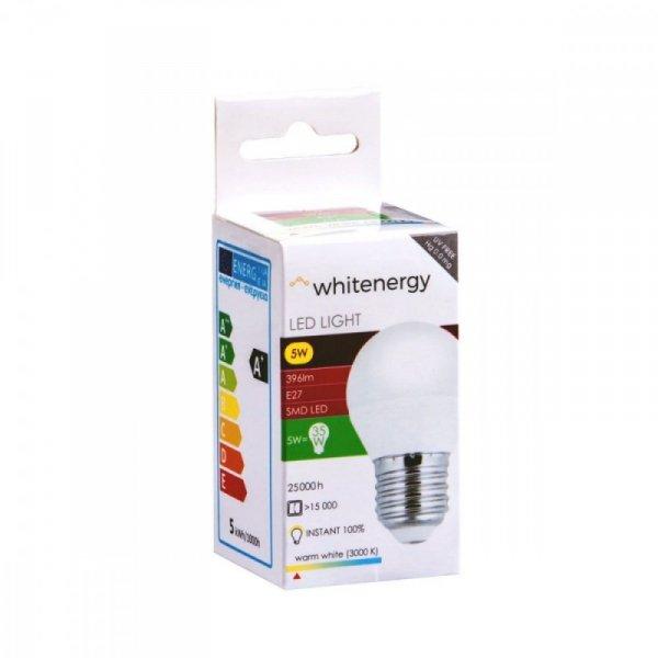 Whitenergy Żarówka LED G45 E27 5W 396lm ciepła biała mleczna