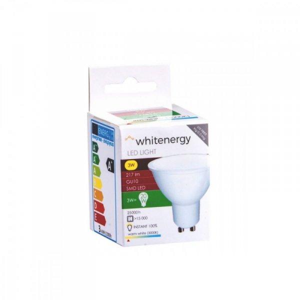 Whitenergy Żarówka LED MR16 GU10 3W 217lm ciepła biała mleczna