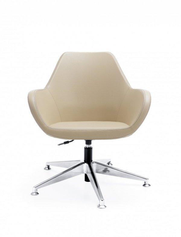 FAN 10T chrom o fotel obrotowy fotel biurowy na stopkach PROFIM Biurokoncept