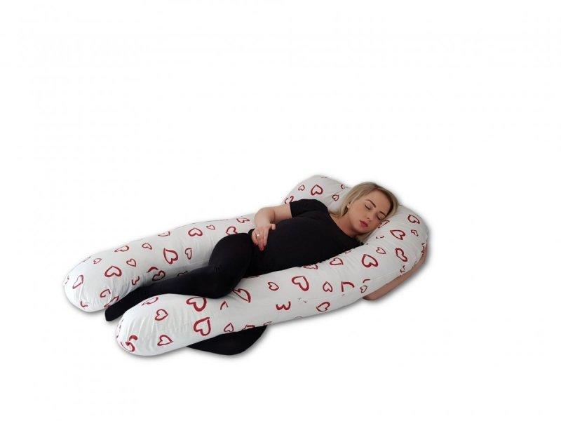 Poduszka ciążowa do spania i karmienia Rogal Typ U - SERCA