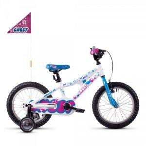 Rower Ghost Powerkid 16 AL biało-niebiesko-różowy