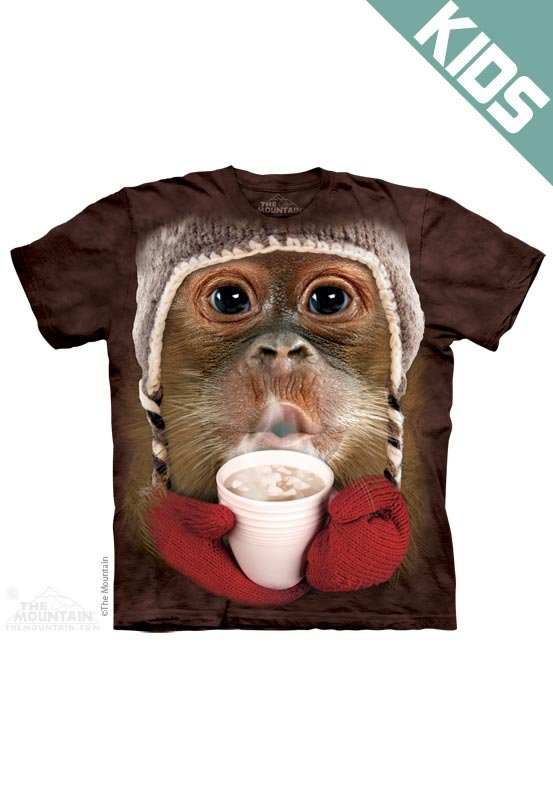 Koszulka dziecięca THE MOUNTAIN HOT COCOA ORANGUTAN 15-8387