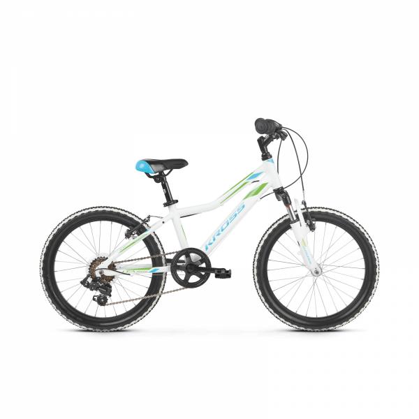 """Rower Kross Lea Mini 2.0 20"""" biały-niebieski-zielony"""