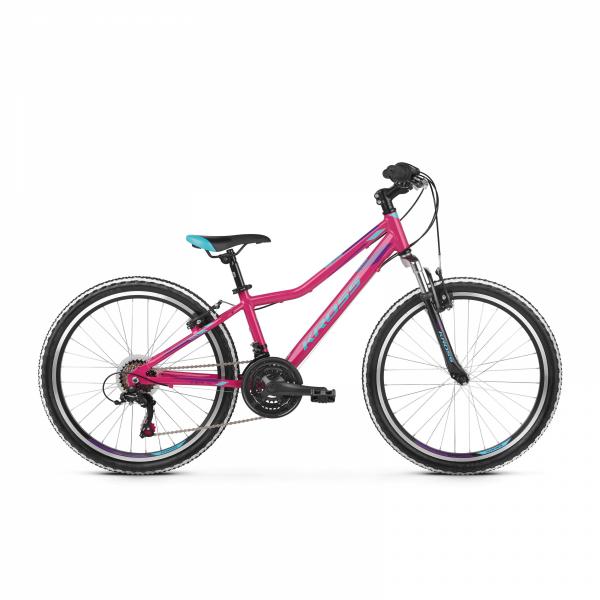 """Rower Kross Lea Junior 24"""" różowy-niebieski-fioletowy"""