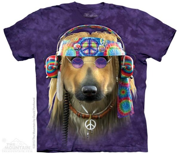 KOSZULKA T-SHIRT THE MOUNTAIN GROOVY DOG 10-3785