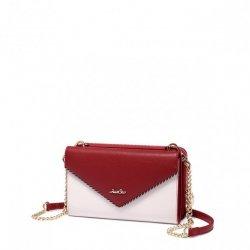 Dwustronna elegancka kopertówka czerwona