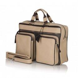 Beżowa torba na spotkania biznesowe