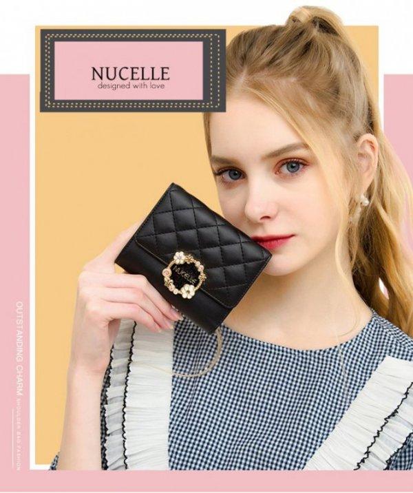 Nucelle elegancki niebieski portfel