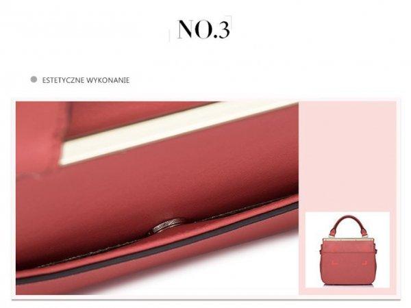 Mała i elegancka damska torebka Czerwona