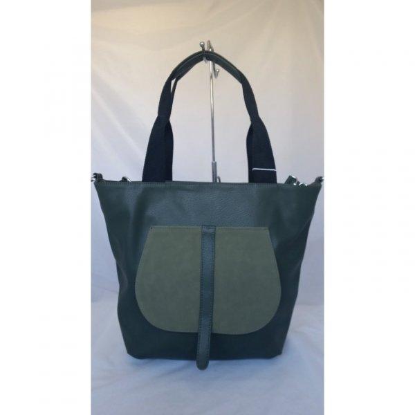 Efektowna zielona torba na ramię