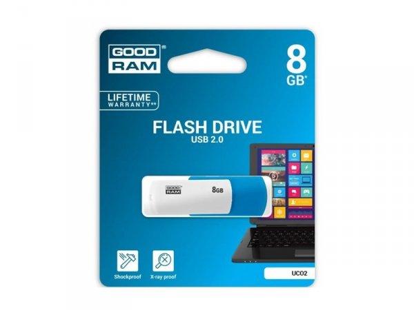 PENDRIVE GOODRAM 8GB FLASH DRIVE UC02 USB 2.0